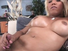 Heavy special tgirl Annalise oils more..