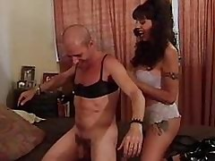 Crossdressing coxcomb fucked round..