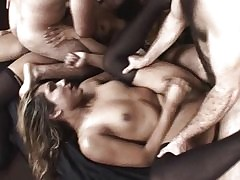 Shemale orgy nuisance making out..