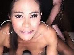 Hung Ladyboy Jasmine Gets Shaved