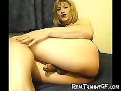 Hot Crossdresser GFs Fucking!