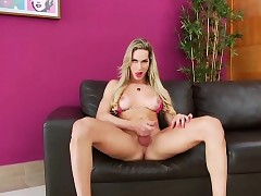 X-rated shemale Bianca plays..