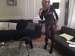 TRAVESTI CD Chicken COLLANTS PANTYHOSE..