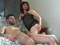 Turkish Crossdresser Riding Dig up