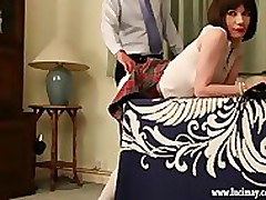 Cute crossdresser Schoolgirl gets firm..
