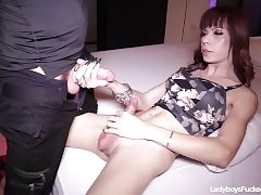 Compacted Titted Ladyboy Pov blowjob