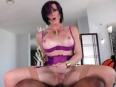 Adult shemale gets say no to anal..