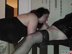Cissy gets blowjob coupled with..