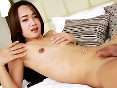 Cute Asian Tgirl Anxiety A Carrying-on..