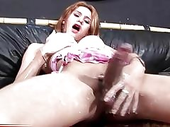 Teen shemale gets dishevelled added to..