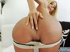 Comely shemale Kimber James anal drilled