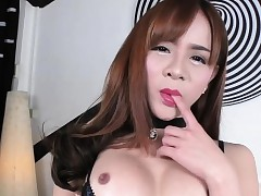 Asian Tgirl Plam gets plowed wits a..