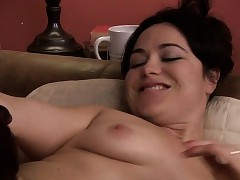 Tgirl Chelsea fingers a cougars pussy