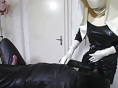 Cum more than my latex dolour apron..