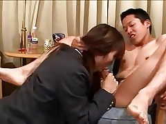 Powered japanese schoolgirl fucks will..