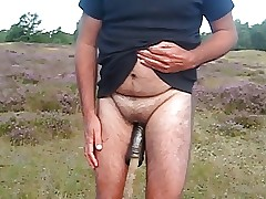 Eunuch jerks his limply mini penis at..