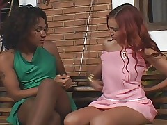 Shemale fucks unspecified back pantyhose