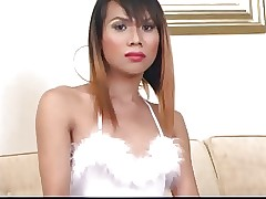 Asian T-Girl Setting up Palpate..